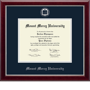 Church Hill Graduation Embossed Diploma Frame, Silver