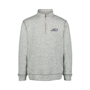 MV Sport 2 Tone Sweaterfleece 1/4 Zip, Grey Heather