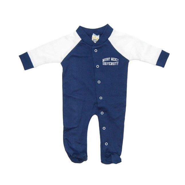 Little Kings Footed Snap Cotton Romper