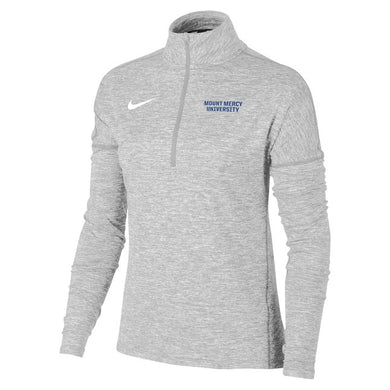 Nike Women's Dry Element Heather 1/2 Zip, Wolf Grey