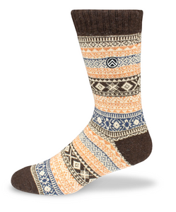 Sky Footwear Acadia Vintage Winter Wool Socks, Brown