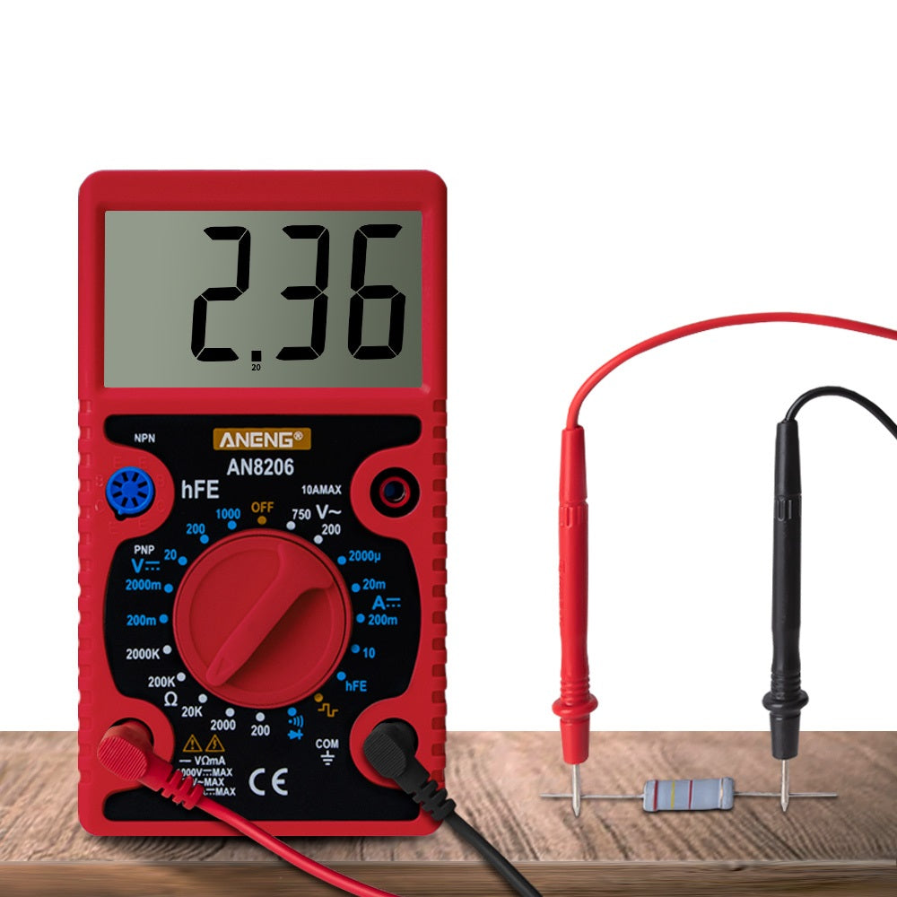 ANENG AN8206 Large Screen Digital Multimeter with Square Wave Output Voltage Current Continuity Measurement hEF measurement
