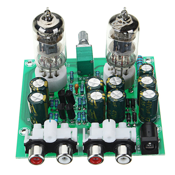Aassembled AC 12V 1A 6J1 Preamp Tube Preamp Amplifier Board PreAmplifier Module Pre-Amp Headphone Bile Buffer Stereo Bass HIFI X10-D