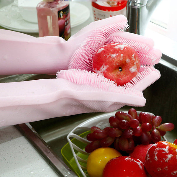 Silicone Dishwashing Glove Kitchen Cleaning