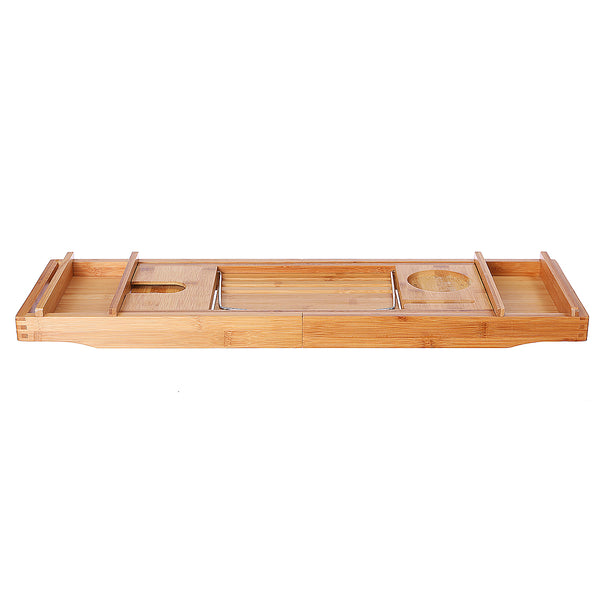 Bathroom Bamboo Holder Tray Over Bathtub Rack Support Storage