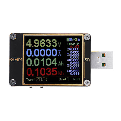 WEB-U2 Current And Voltage Meter USB Tester QC4+ PD3.0 2.0 PPS Fast Charging Protocol Capacity Test