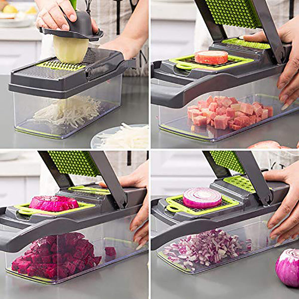 Multi-Function Vegetable Cutting Cutter Machine Fruit Slicer Potato Peeler Kitchen Accessories Convenient