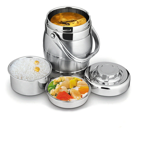 1.6L Thicken Stainless Steel Insulation Barrel Lunch Box