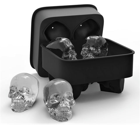 3D Skull Flexible Silicone Ice Cube Mode