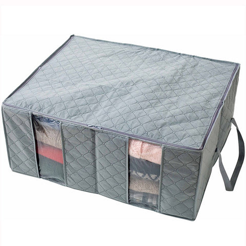 130L Transparent Clothes Quilts Storage Folding Organizer