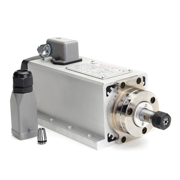 220V 1.5KW Air Cooled CNC Spindle Motor for CNC Router + 1500W 220V Inverter Converter Auto Voltage Regulation Technique for Spindle Motor