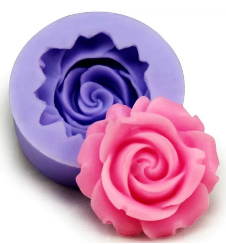 3D Silicone Rose Fondant Mold