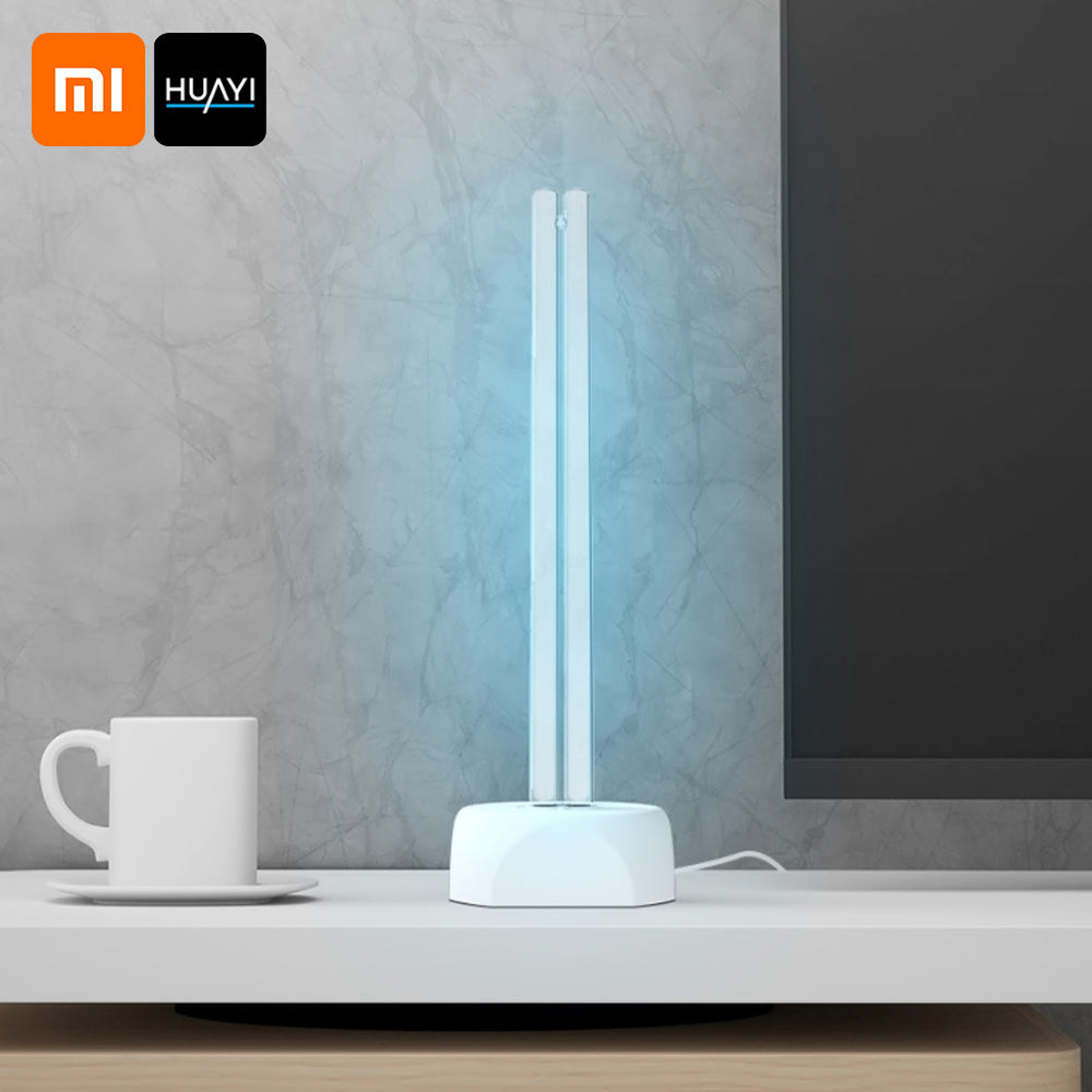 Huayi 38W Household UV Ozone Sterilization Lamp Dual Light Tube Ultraviolet Germicidal Disinfection Table Lamp 40㎡ Area Sterilizer from Xiaomi Youpin