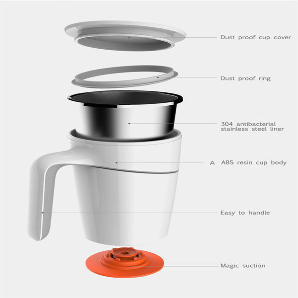 Original Xiaomi Fiu 470ML Not Pouring Cup Stainless Steel Magical Sucker Splash Proof Mug