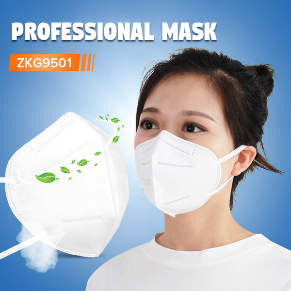 KN95 FFP2 Face Mask Anti-foaming Splash Proof PM2.5 Dust Anti Fog Filter Breathing Protective Mask Hanging Ear Type