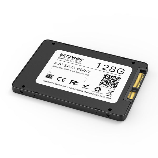 BlitzWolf® BW-SSD 128/256/512GB 2.5 Inch SATA3 6Gbps Solid State Disk TLC Chip Internal Hard Drive for SATA PCs and Laptops with R/ W at 520/430 MB/ s