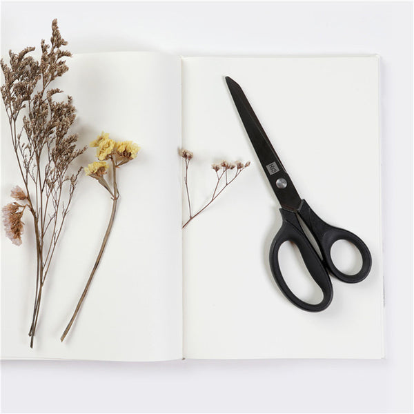2pcs Titanium-plated Scissors Black Sharp Sets