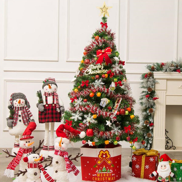 3-7ft Pre-Lit Fiber Optic Artificial Christmas Tree Decoration LED Multicolor Lights Stand
