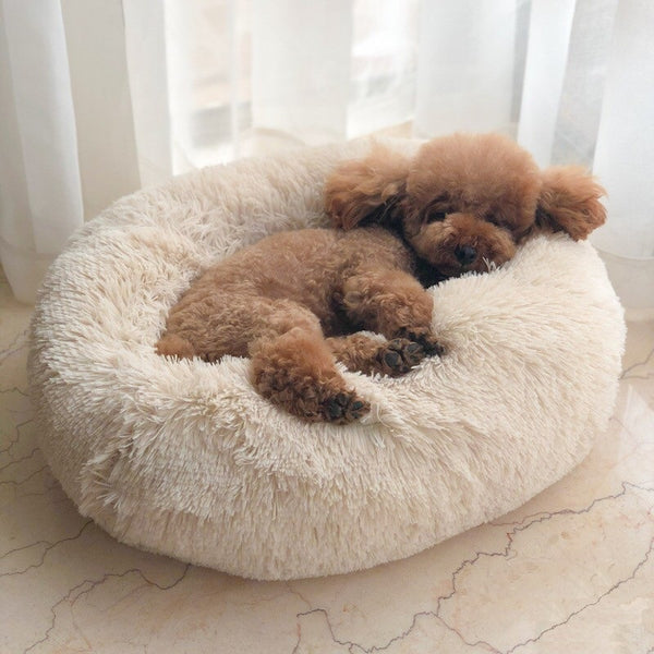 Multicolor Marshmallow Calming Super Soft Warm Pet Bed