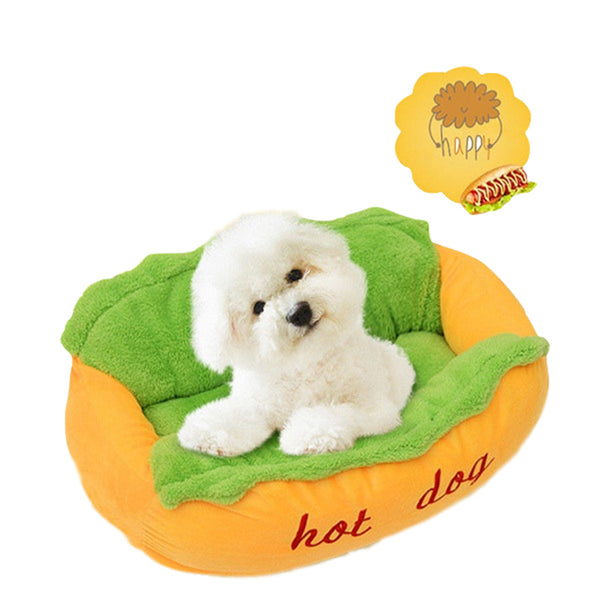 Hot Dog Shape Mattress Soft Pet Bed