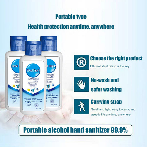 50ml Hand Sanitizer Health Protective Supply Moisturizing Antibacterial Hands Cleaning Liquid Soap Water Washing Free