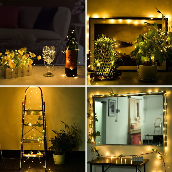 10M 100 LED USB Silver Wire Flexible String Fairy Light Decor