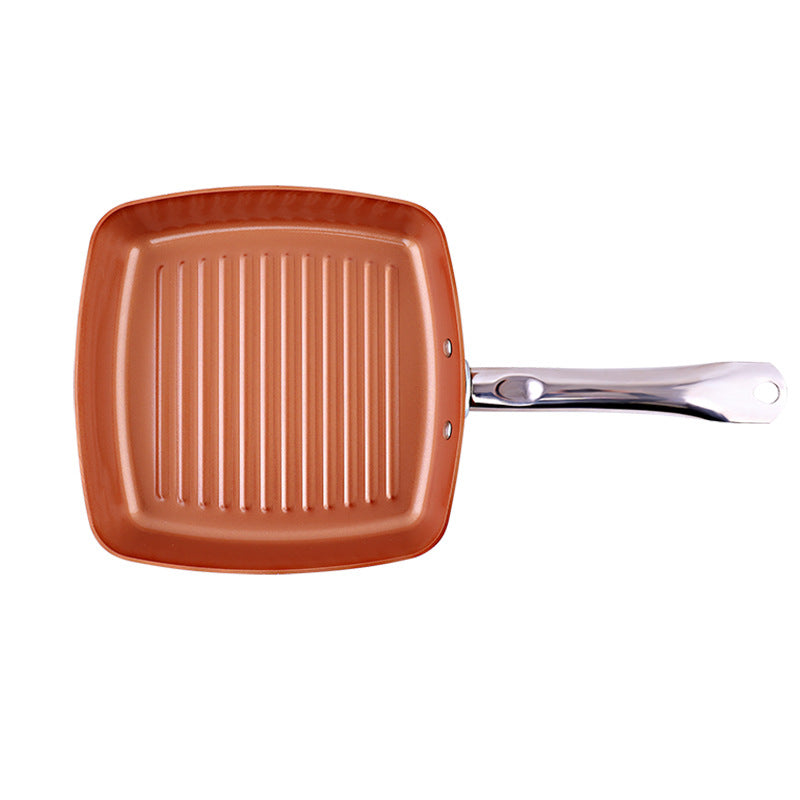 Copper Chef Square Aluminum Alloy Striped Frying pan