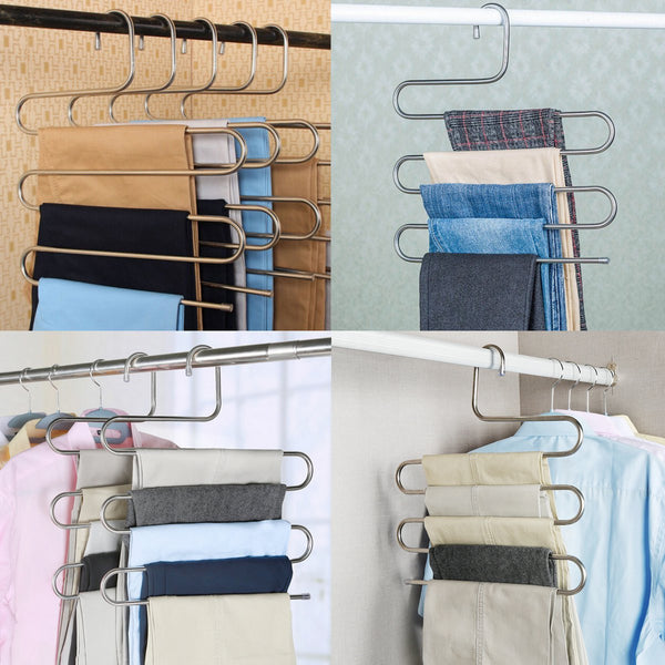 S Type Clothes Pants Trouser Hanger Multi Layers Storage Rack