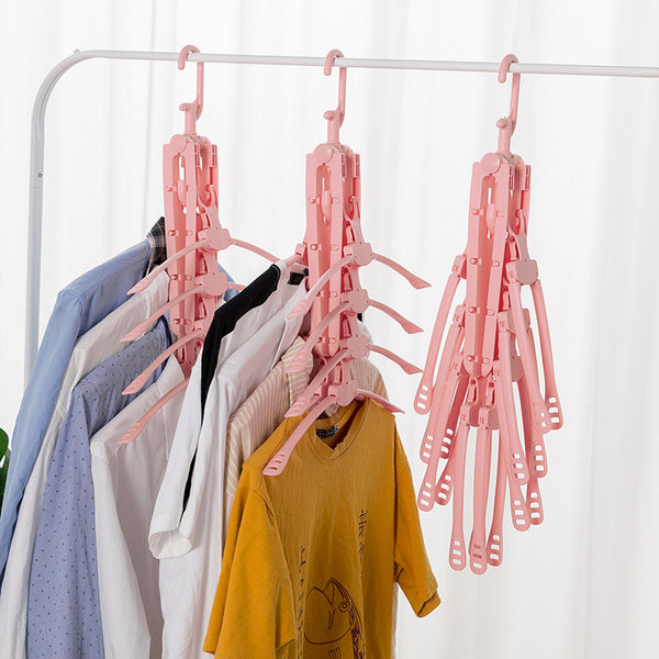 Home 360 Degree Rotation Foldable 8 in 1 Cloth Hanger