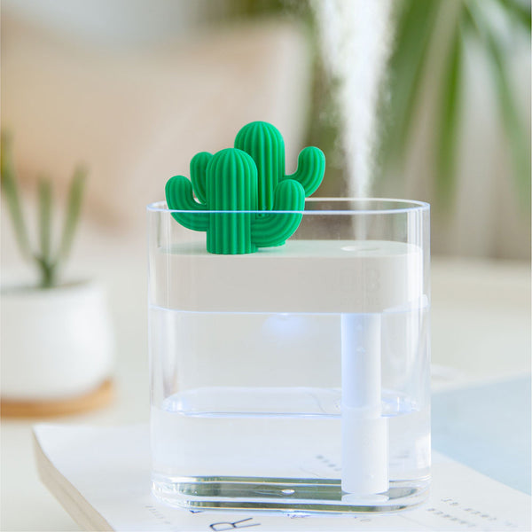 Clear Cactus Ultrasonic Air Humidifier 160ML Color Light