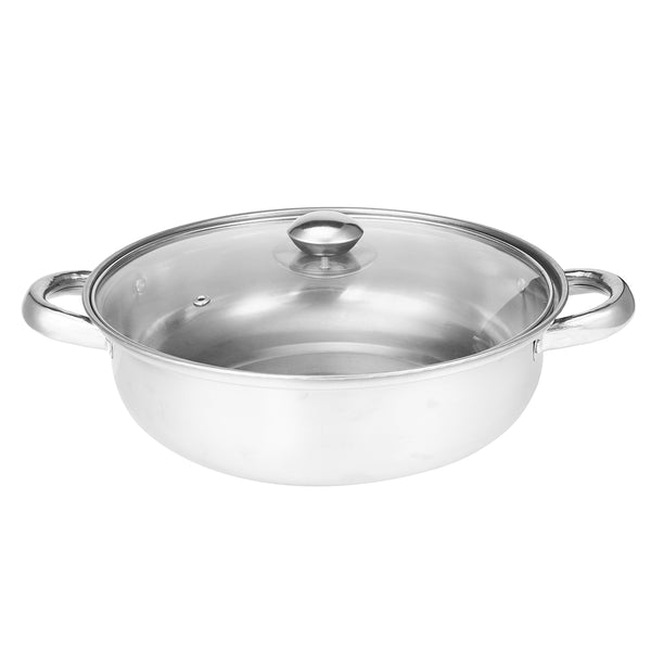 2 Tier 27.5cm Stainless Steel Food Steamer Pot Pan