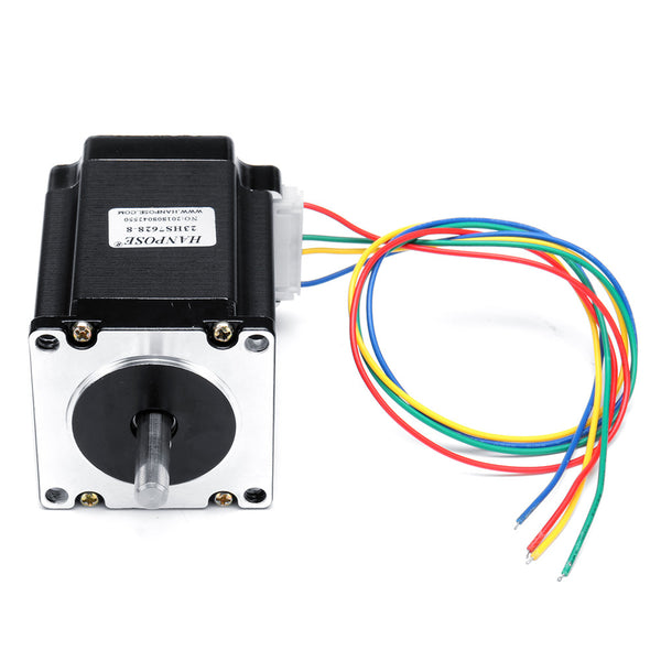 HANPOSE 23HS7628 76mm Nema 23 Stepper Motor 57 Motor 2.8A 189N.cm 4-lead CNC Laser Grind Foam Plasma Cut Engraving Machine