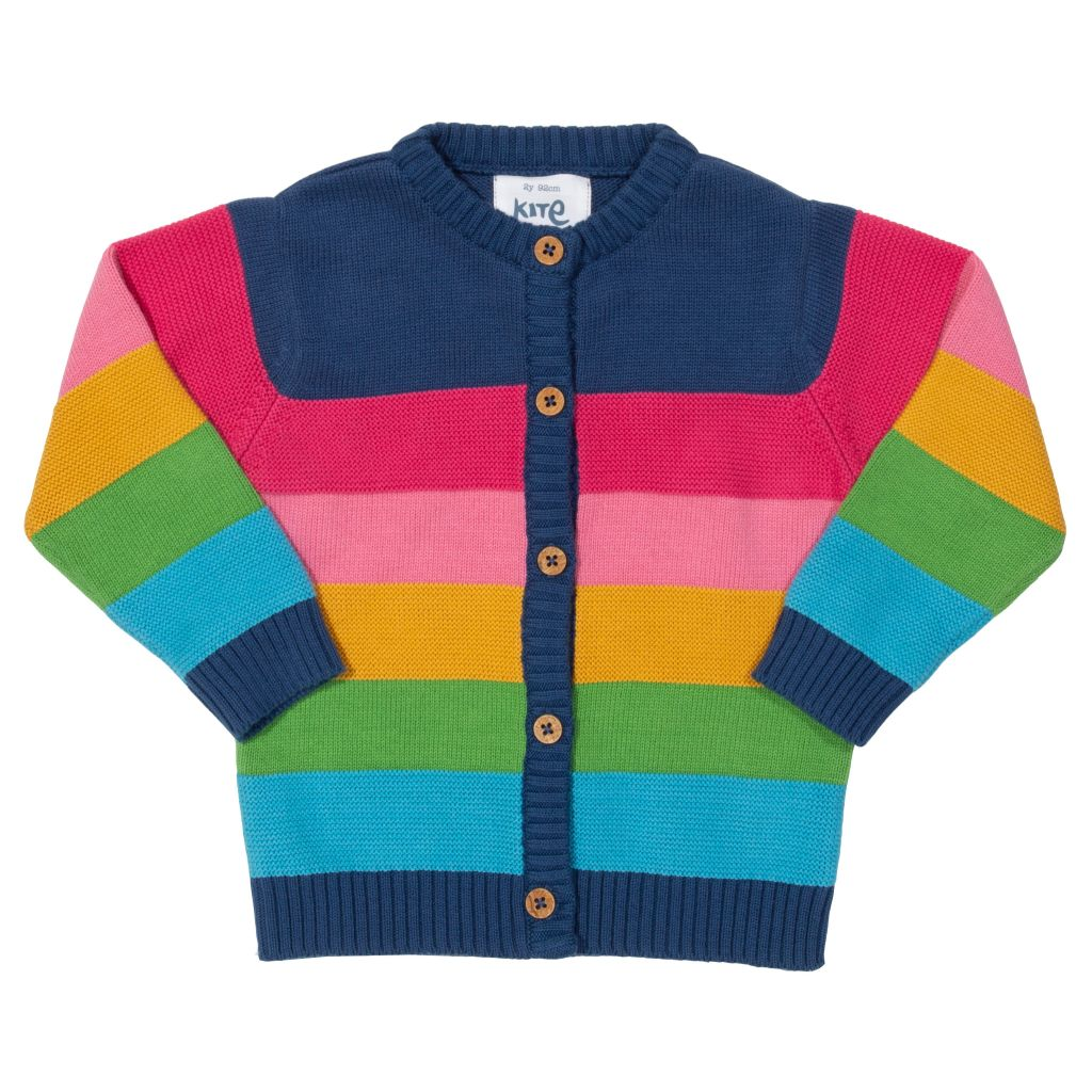 Organic Kite Clothing Rainbow Cardigan