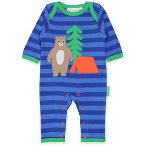 Camping Bear Applique Sleepsuit