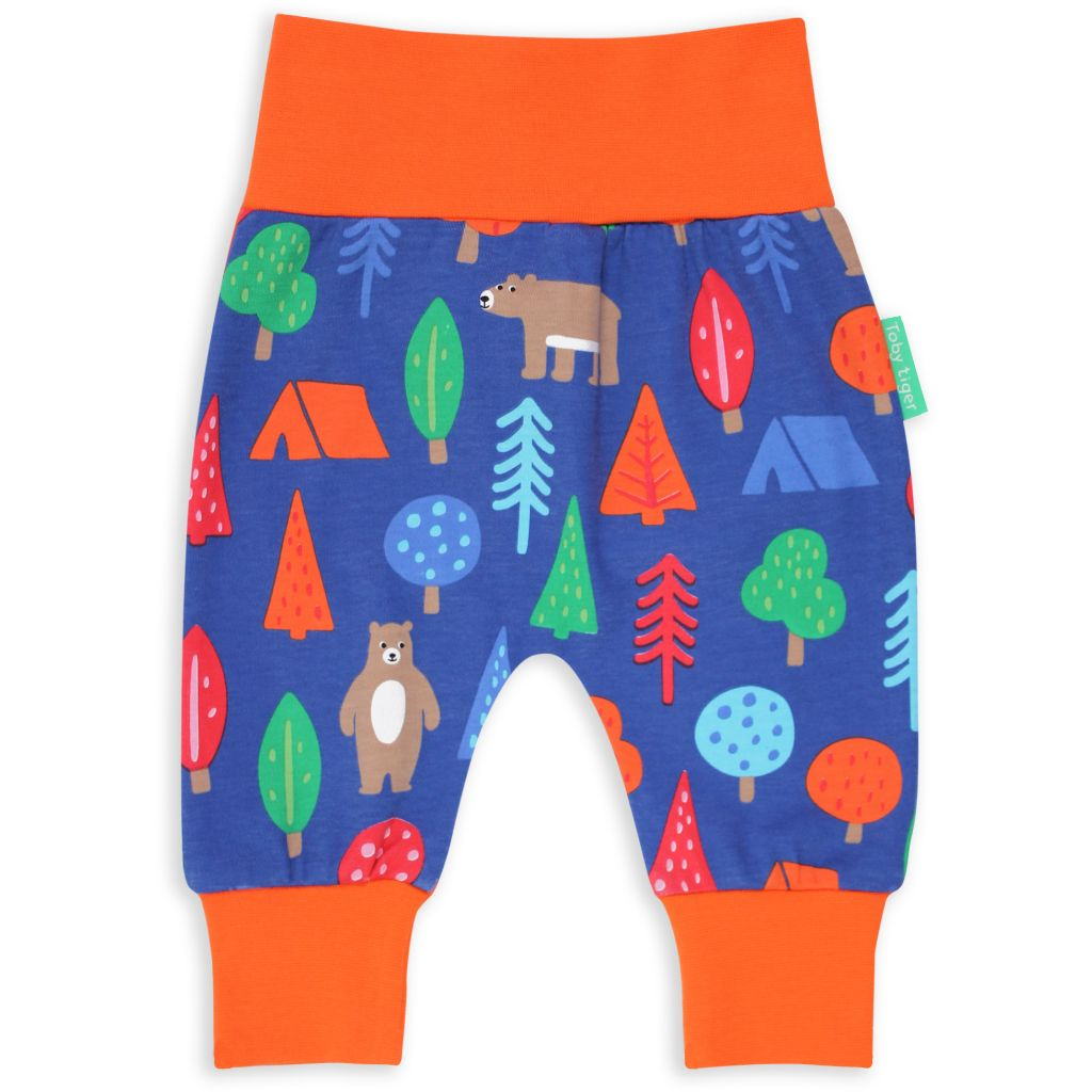 Camping Bear Print Yoga Pants