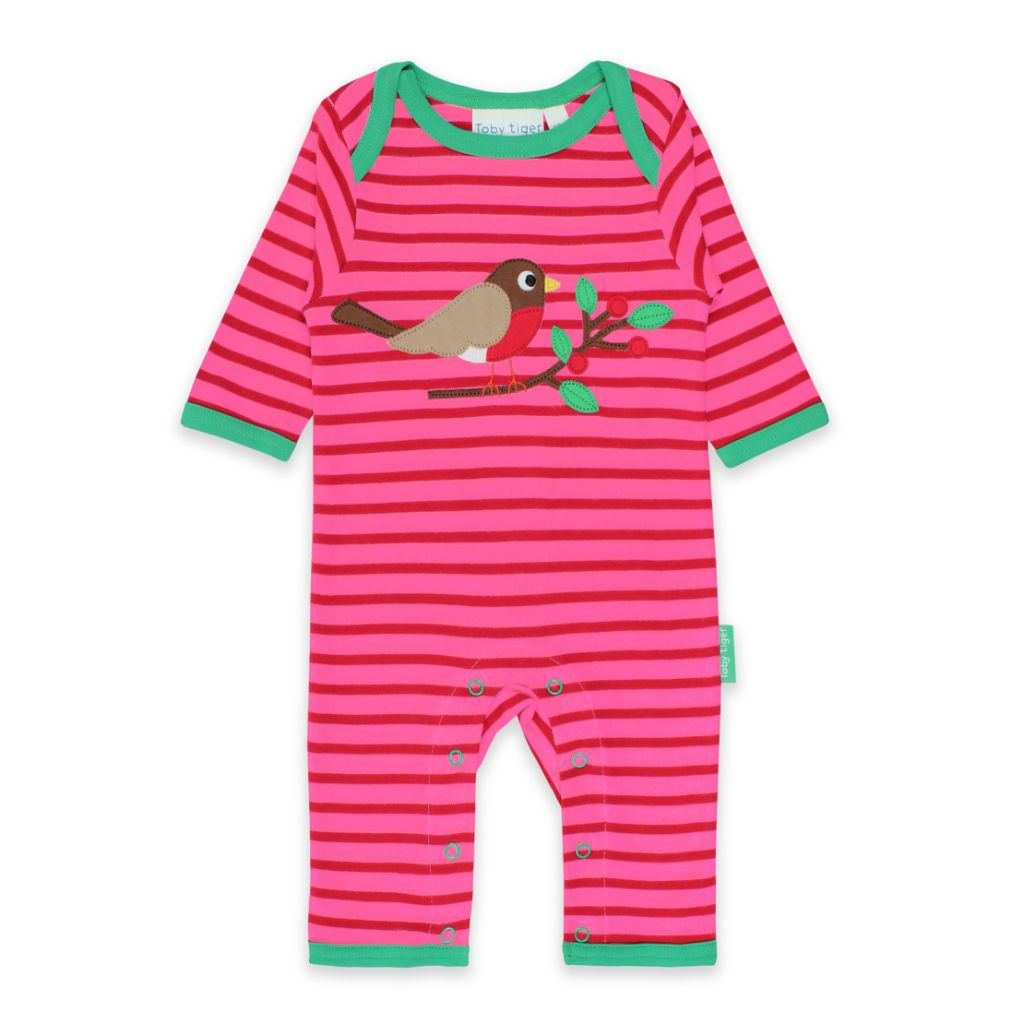 Robin Applique Sleepsuit