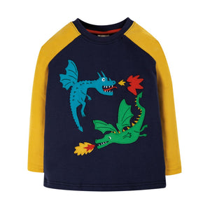 Indigo Dragon Raglan Top