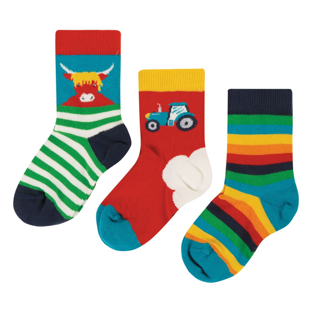 Tractor 3 Pack Little Socks
