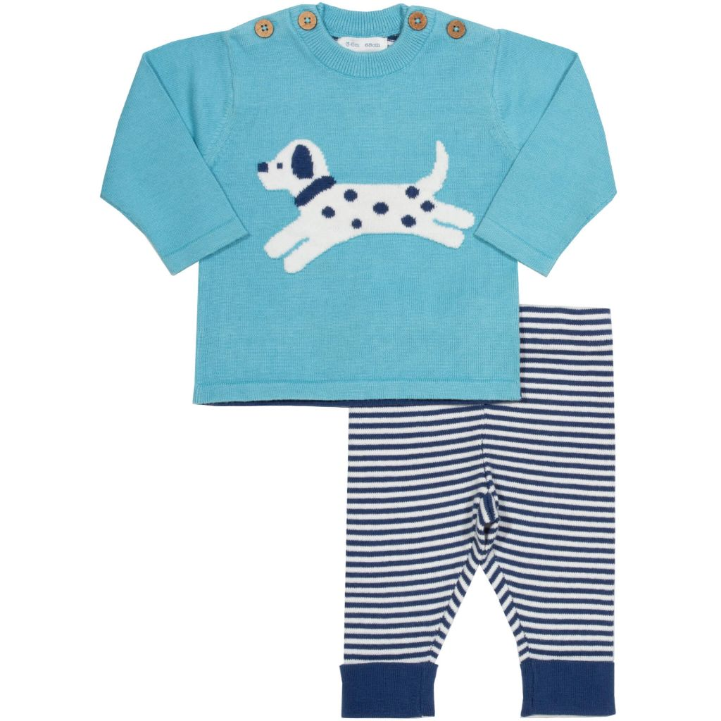 Organic Kite Clothing Little Pup Knit Set