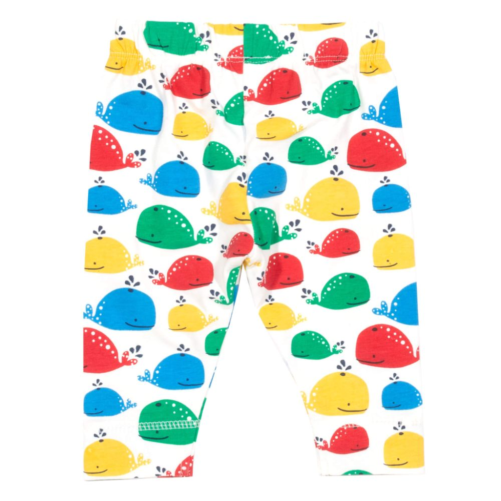 Organic Kite Clothing Rainbow Whale Leggings