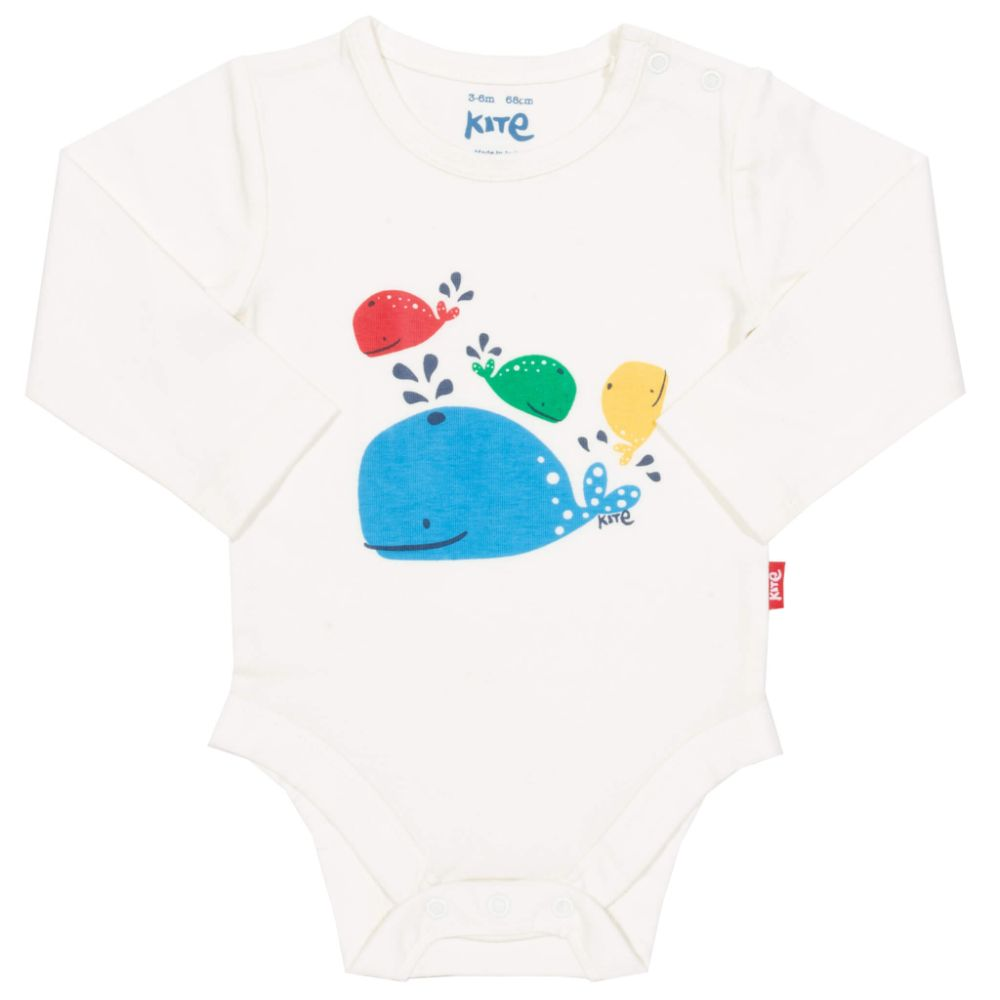 Organic Kite Clothing Rainbow Whale Bodysuit