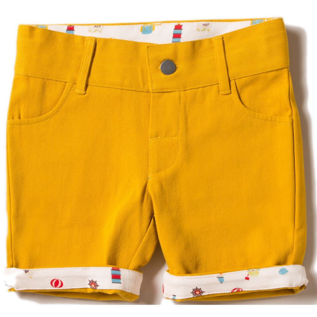 Organic Little Green Radicals Gold Adventure Sunshine Shorts