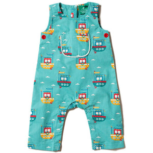 Organic Little Green Radicals Lost At Sea Explorer Dungarees