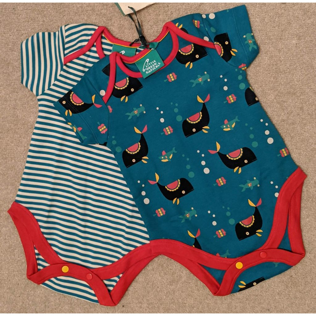 Organic Little Green Radicals Sealife Baby Body Set