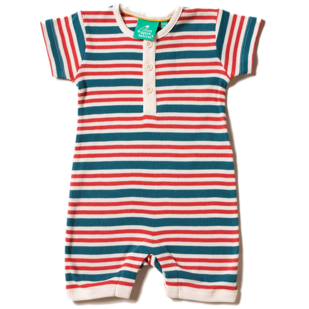 Organic Little Green Radicals Nautical Rib Summer Shortie