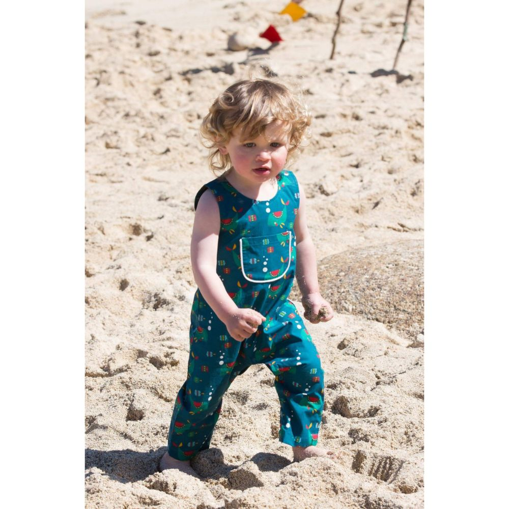 Organic Little Green Radicals Whale Of A Time Explorer Dungarees