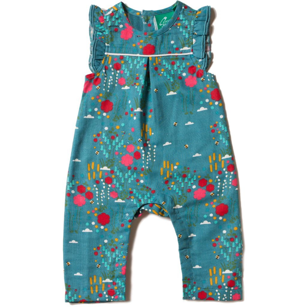 Organic Little Green Radicals Wildflower Meadow Frill Romper