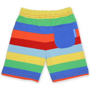 Organic Toby Tiger Multi Stripe Shorts Back