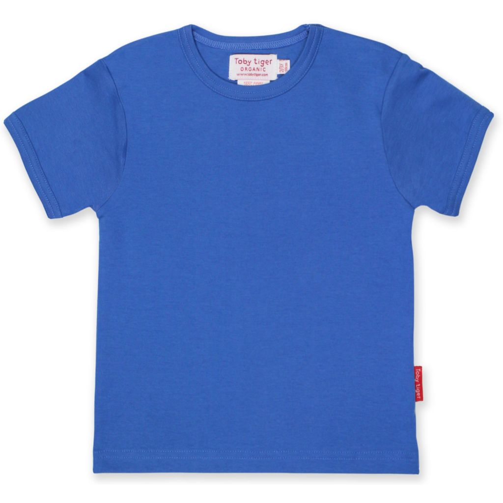 Organic Toby Tiger Blue T Shirt