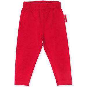 Organic Toby Tiger Red Leggings